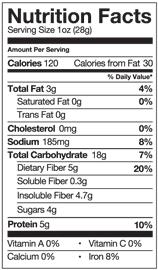 The Good Bean Nutrition Info