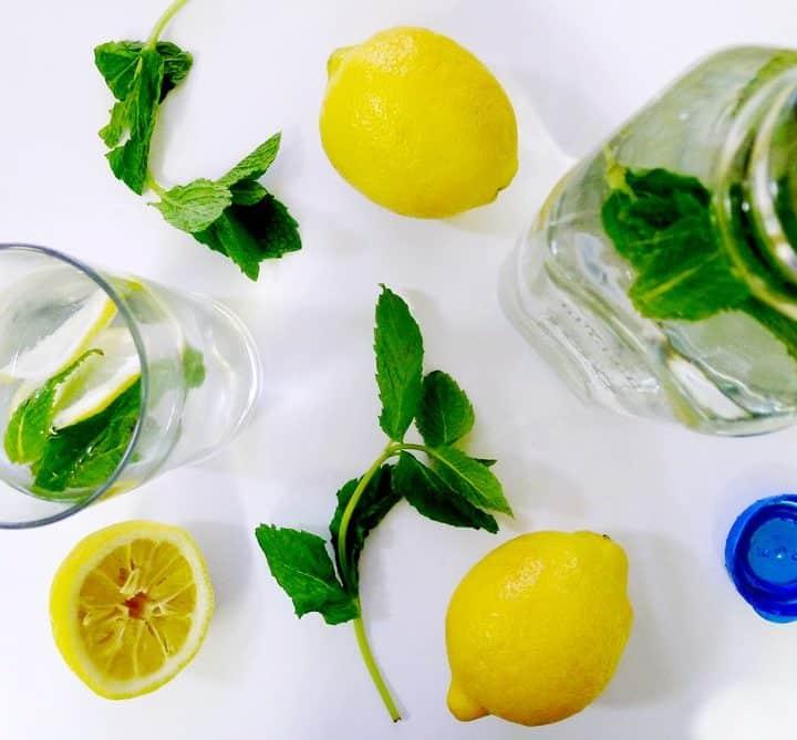 Fresh Mint Lemon Water Recipe