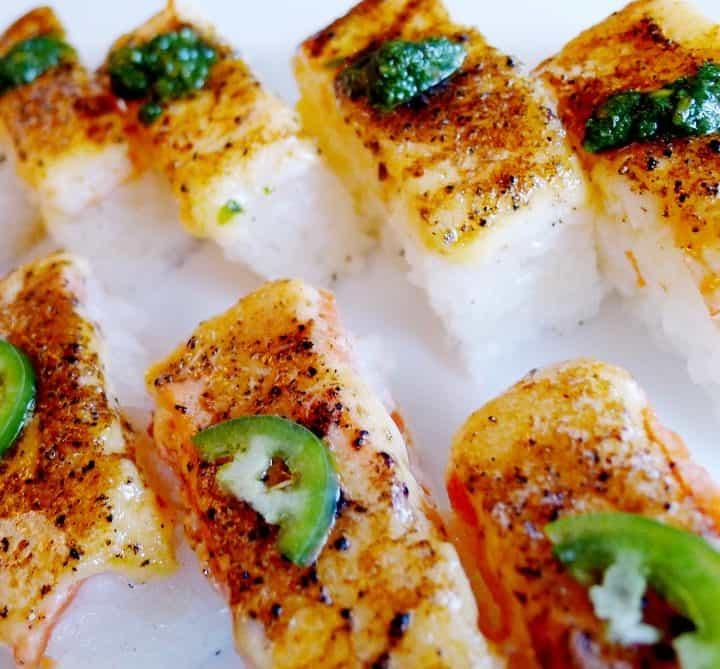Kishimoto Japanese vancouver commercial drive Oshisushi aburi sushi