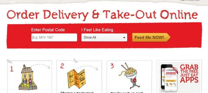 Just Eat Online Food Delivery Take Out App | Moving Out for the First Time