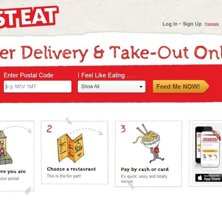 Just Eat Online Food Delivery Take Out App