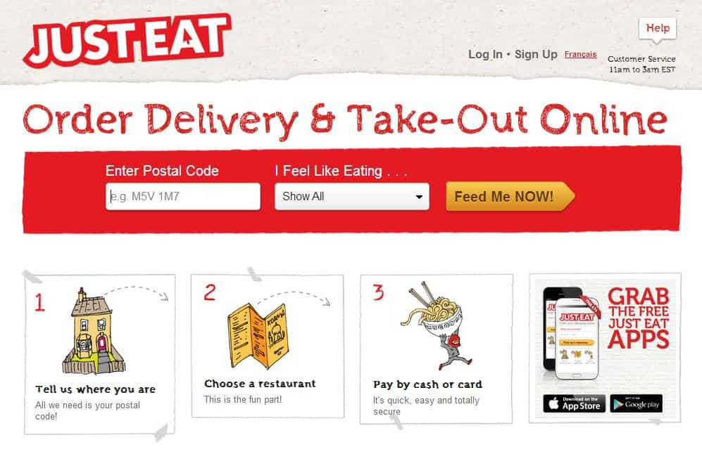 Just Eat Online Food Delivery Take Out App   Moving Out for the First Time