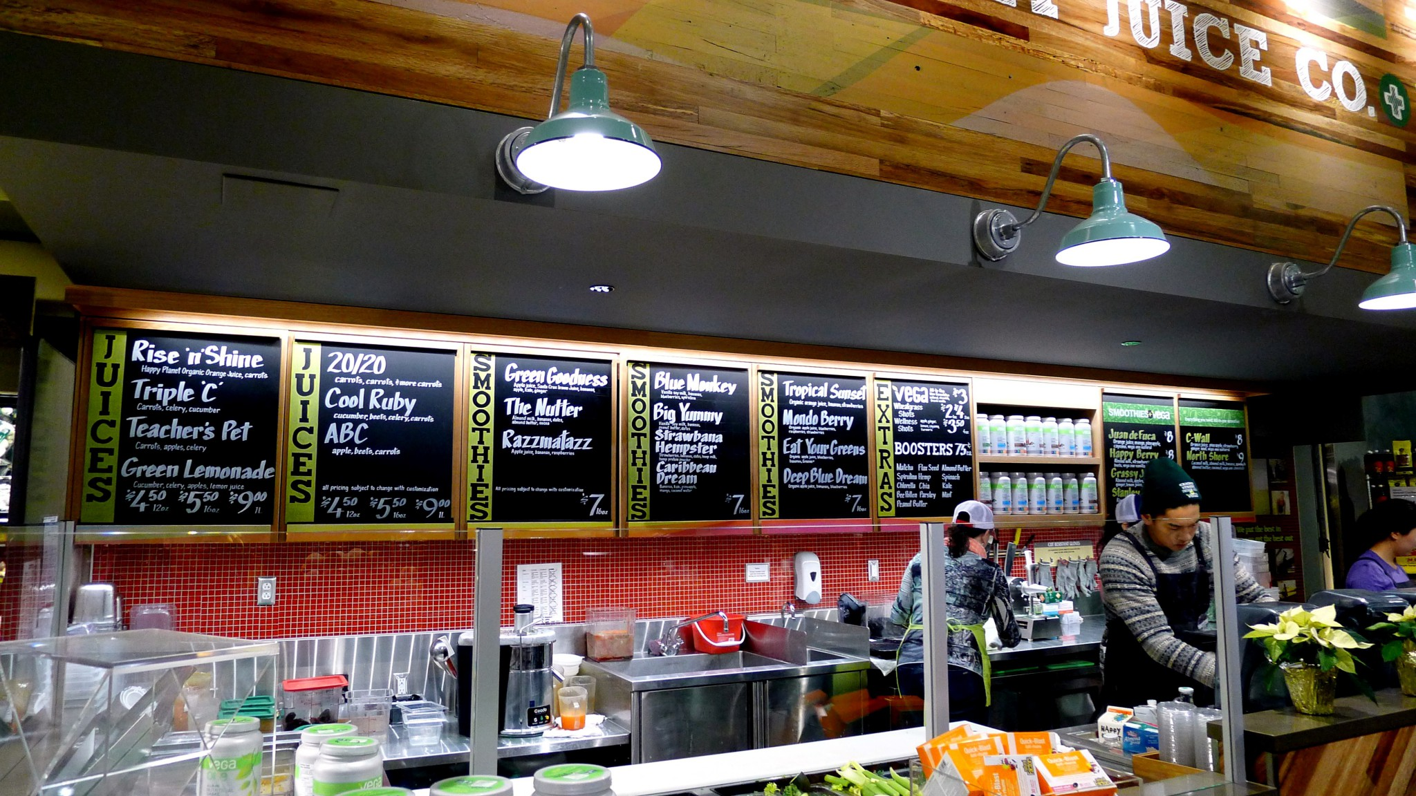 Cambie street juice co at whole foods market vancouver for Whole food juice bar menu