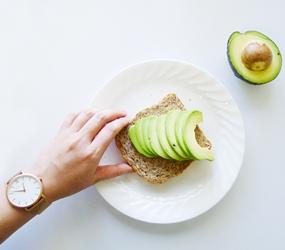 larsson jennings rose gold watch avocado toast breakfast