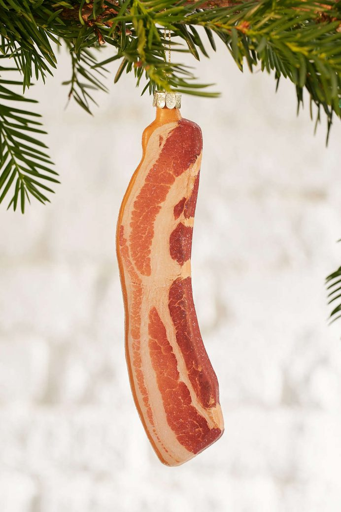 Bacon Slice christmas Tree decorations for the Heart Eyed Foodie