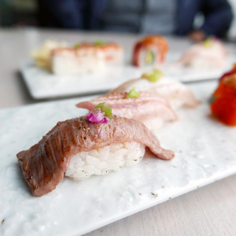 wagyu sashimi
