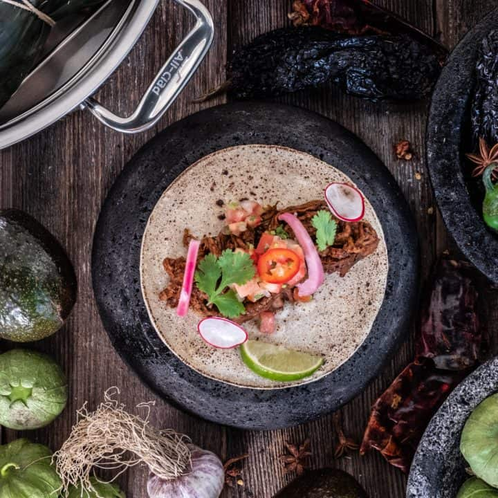 Cinco de Mayo Recipe Alex Chen's Lamb Barbacoa Chef Alex Chen and All-Clad Canada