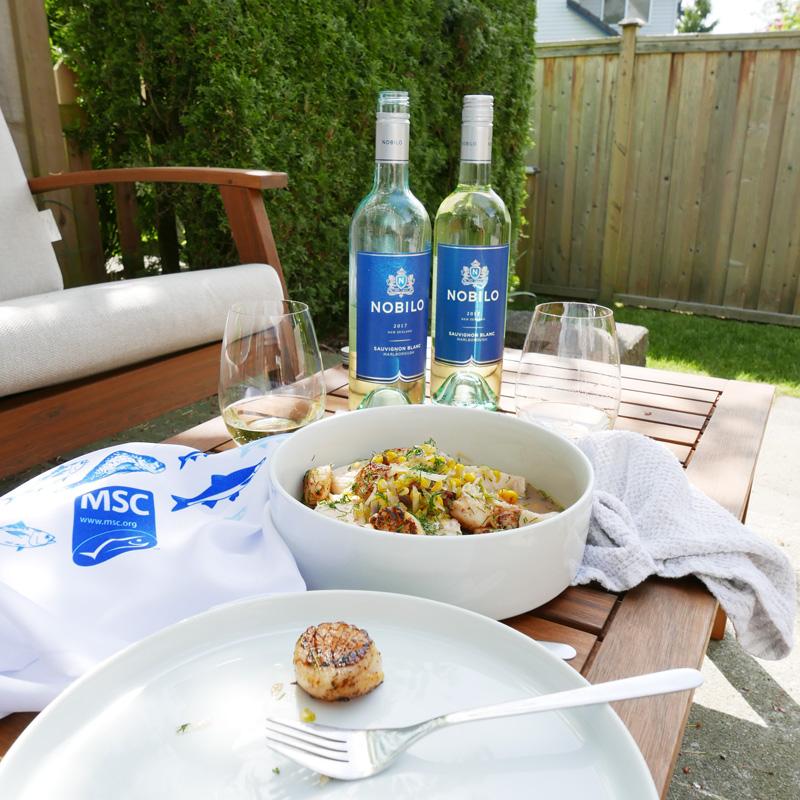Haddock Scallops Fennel Soup recipe MSC Nobilo Wines Nomss.com food blog canada