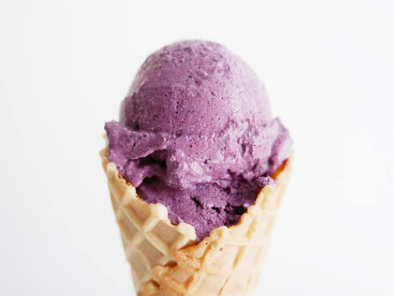 BLUEBERRY COCONUT MILK LEMON ZEST ICE CREAM DAIRY-FREE EGG-FREE NO CHURN NOMSS.COM HEALTHY FOOD RECIPES