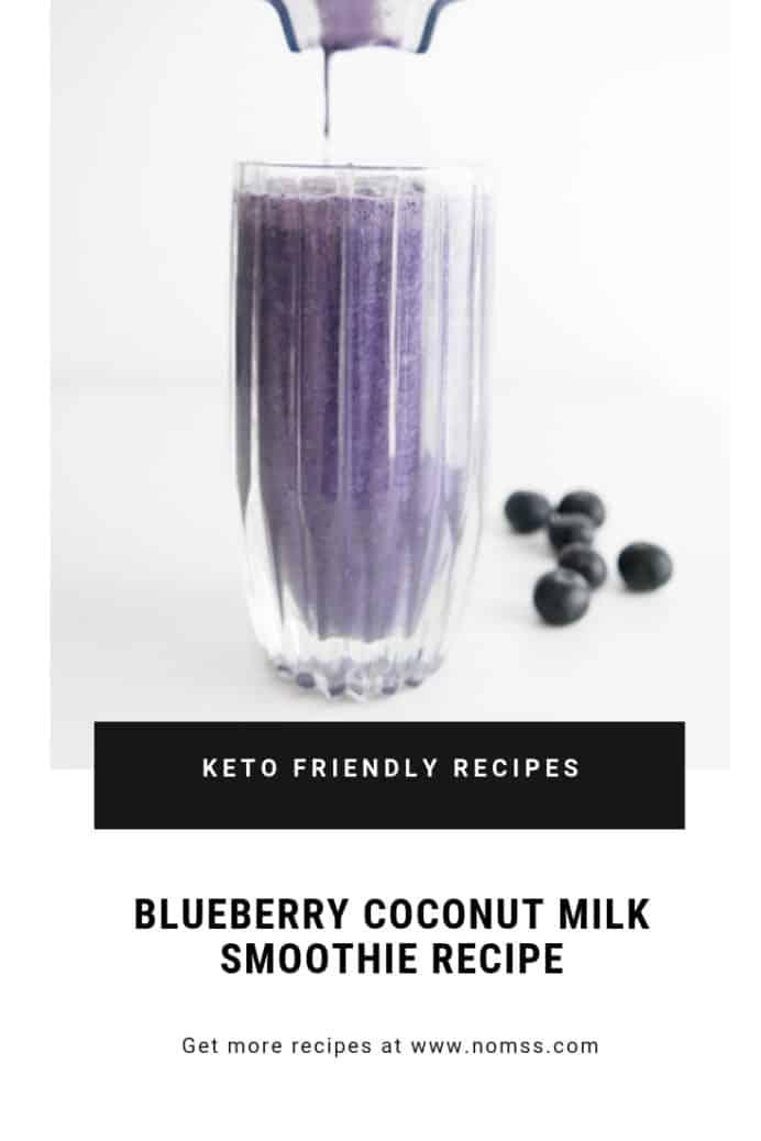 KETO FRIENDLY BLUEBERRY SMOOTHIE COCONUT MILK RECIPE