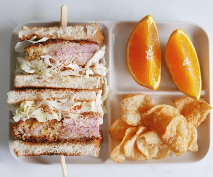 Quick and Easy Katsu Sando Crispy Japanese Turkey Sandwich recipe カツサンド Nomss.com @instanomss #katsu #cutlet #turkey #instanomss #recipe
