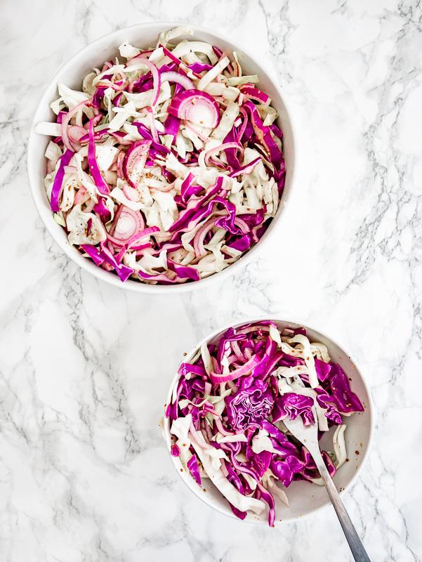 No Mayo Apple Vinegar Coleslaw Recipe