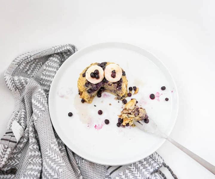 3 Ingredient healthy paleo blueberry banana pancakes recipes
