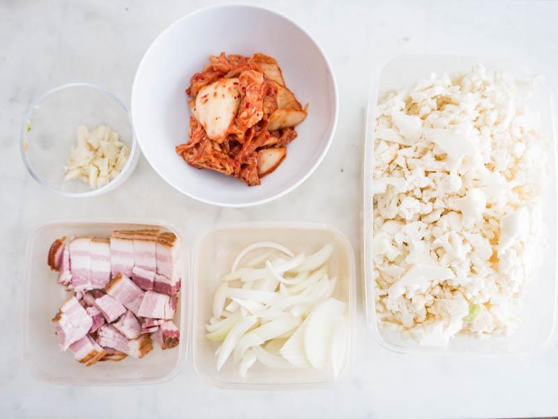 vegan Kimchi Cauliflower Fried Rice