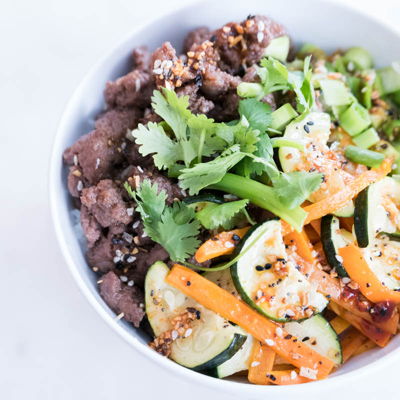 nomss.com Bibimbap Rice Bowl and Spicy Sesame Sauce with Hello Fresh