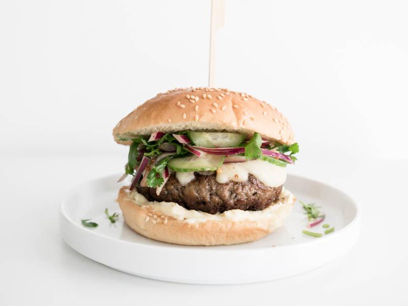 Vegan Burger with Isreali Salad