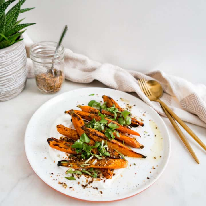 Legendary Dukkah Roasted Carrots with Homemade Labneh Nomss
