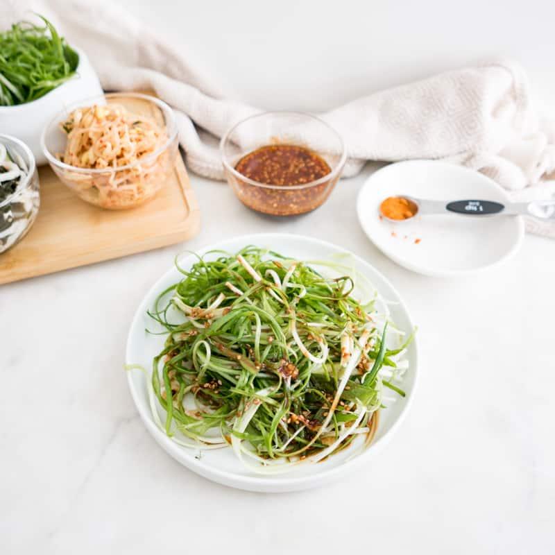 Pajeori Korean Spicy Seasoned Green Onion Salad recipe     Pamuchim 파절이 파무침
