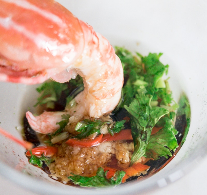 Chili Soy Dipping Sauce for Spot Prawns