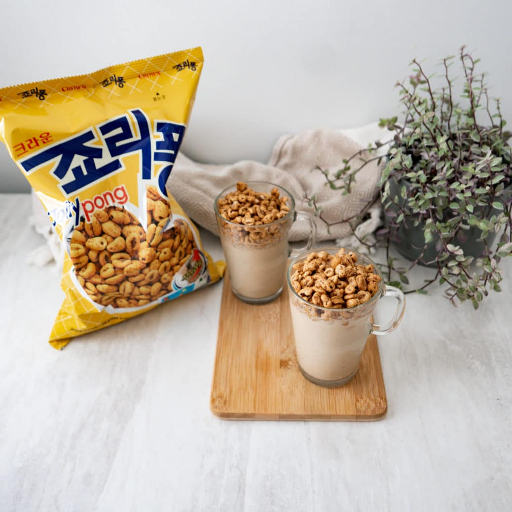 JOLLY PONG CRUSH MILKSHAKE / KOREAN SNACK CEREAL LATTE 퐁크러쉬