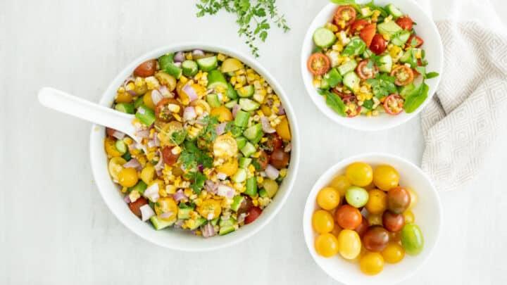 Air Fryer Local simple Corn Summer Salad
